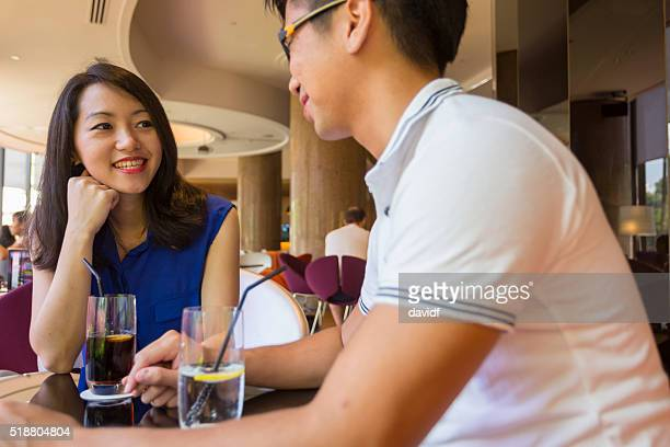 Romantic Young Couple On a Date in Singapore