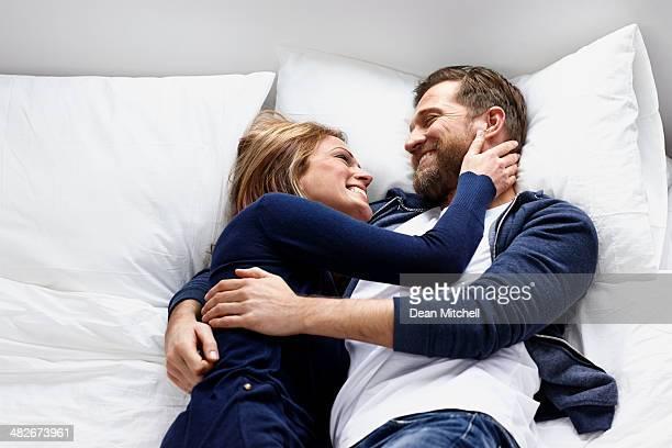 Man And Woman Cuddling...