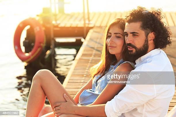 Romantics on the dock
