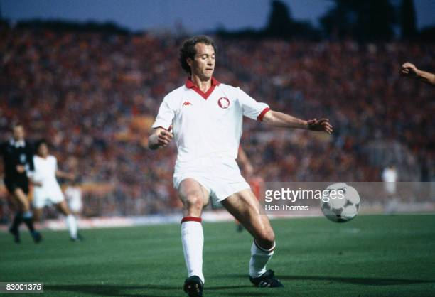 Roma's Brazilian International Paolo Falcao on the ball during the European Cup Final between AS Roma and Liverpool at the Olympic Stadium in Rome...