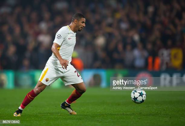 Roma's Bruno Peres during the UEFA Champions League group C match between Chelsea FC and AS Roma at Stamford Bridge on October 18 2017 in London...