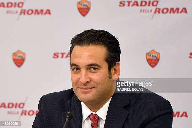 AS Roma's Ceo Italo Zanzi attends a press conference to present the Rome's new stadium project on March 26 2014 in Rome AS Roma officially announced...