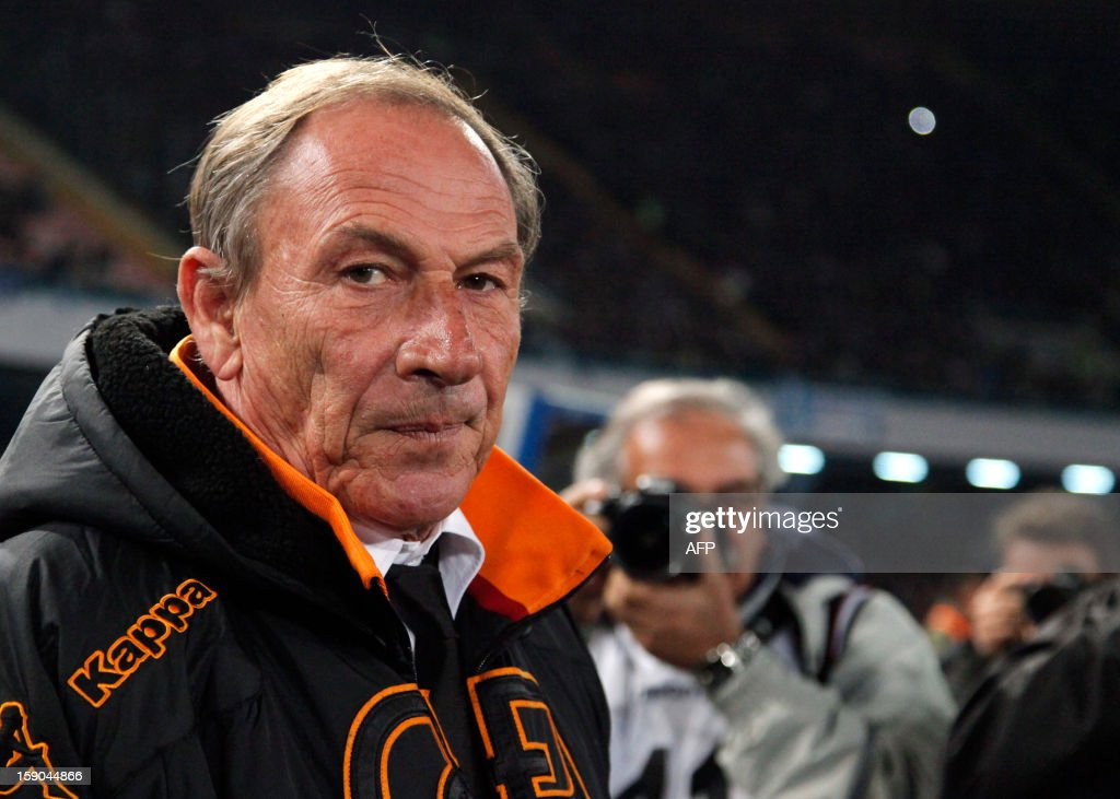 Roma's coach Czech Zdenek Zeman poses before the Serie A football match SSC Napoli vs AS Roma in San Paolo Stadium on January 6, 2013 in Naples. HERMANN
