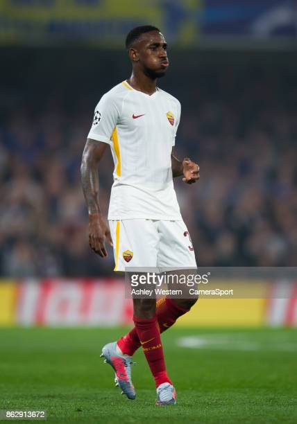 Roma's Gerson during the UEFA Champions League group C match between Chelsea FC and AS Roma at Stamford Bridge on October 18 2017 in London United...