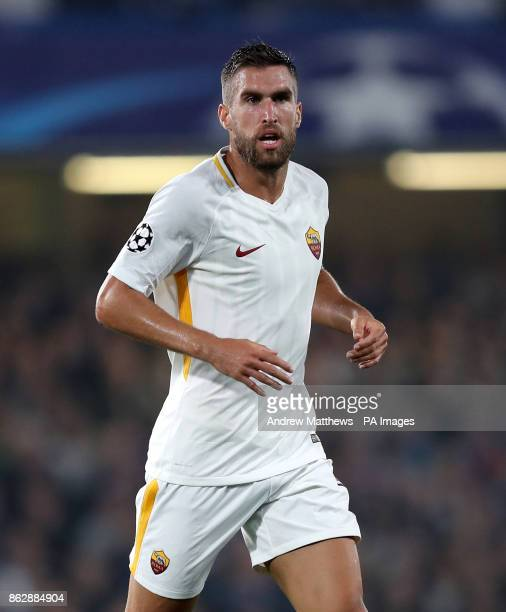 Roma's Kevin Strootman during the UEFA Champions League Group C match at Stamford Bridge London