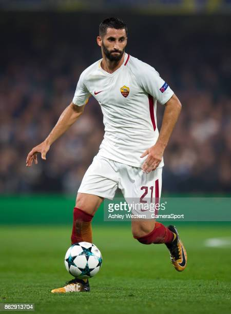 Roma's Maxime Gonalons during the UEFA Champions League group C match between Chelsea FC and AS Roma at Stamford Bridge on October 18 2017 in London...