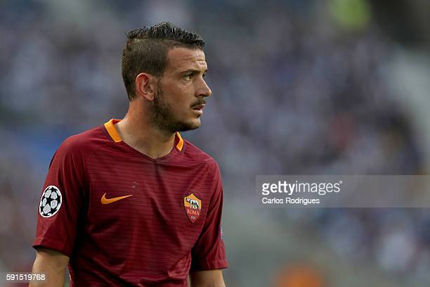 Roma's midfielder Alessandro Florenzi from Italy celebrates scoring Roma's goal during the match between FC Porto v AS Rome UEFA Champions League...