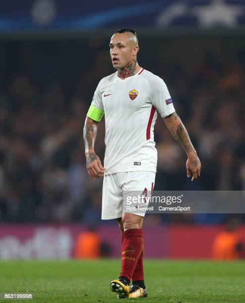 Roma's Radja Nainggolan during the UEFA Champions League group C match between Chelsea FC and AS Roma at Stamford Bridge on October 18 2017 in London...