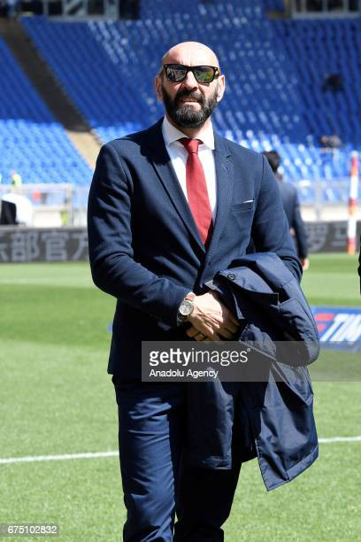 Roma's Sporting Director Ramon Rodriguez Verdejo Monchi is seen during the Italian Serie A soccer match between AS Roma and SS Lazio at Stadio...