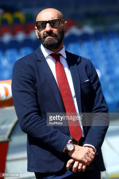 AS Roma's Sporting Director Ramon Rodriguez Verdejo Monchi is seen during the Italian Serie A soccer match between AS Roma and SS Lazio at Stadio...