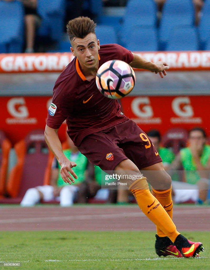 Roma s Stephan El Shaarawy in action during the Italian