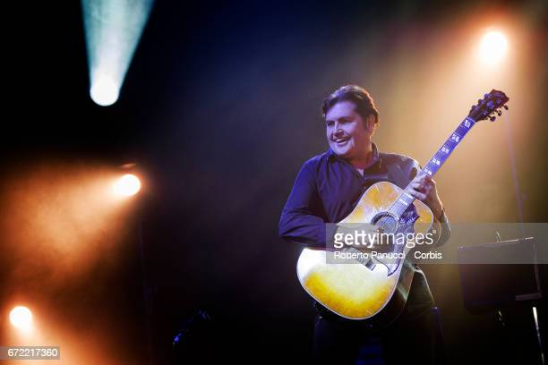 Charlie Burchill and his Scottish group Simple Minds performs at Auditorium of Conciliazione on April 23 2017 in Rome Italy