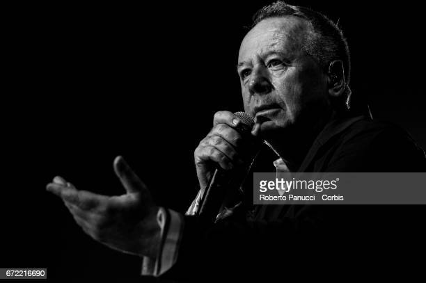 Jim Kerr and his Scottish group Simple Minds performs at Auditorium of Conciliazione on April 23 2017 in Rome Italy