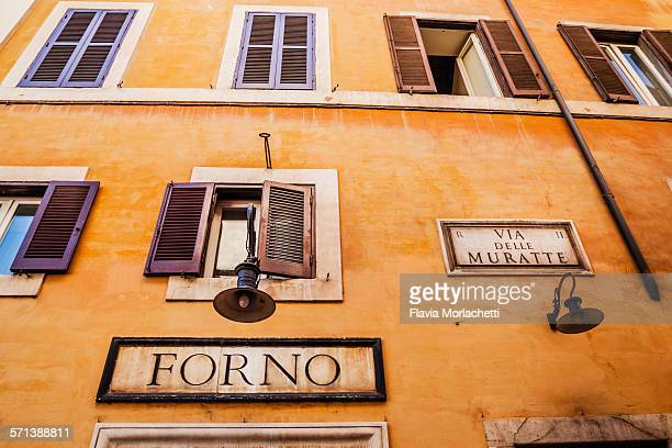 Rome architecture with street signs