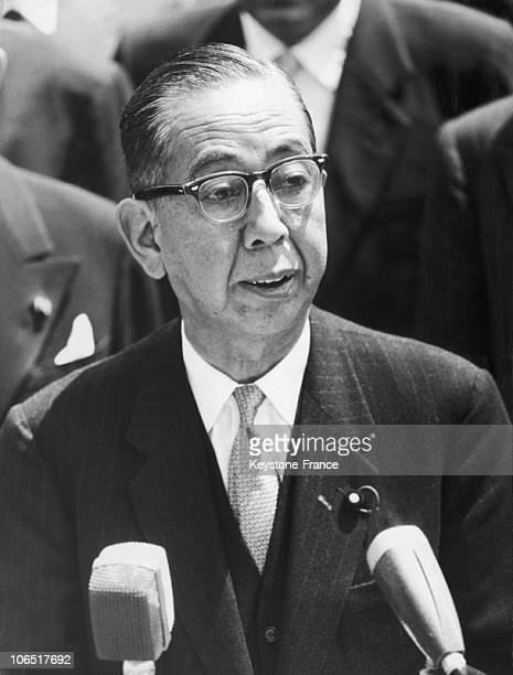 Rome Ciampino Airport Prime Minister Of Japan Nobusuke Kishi