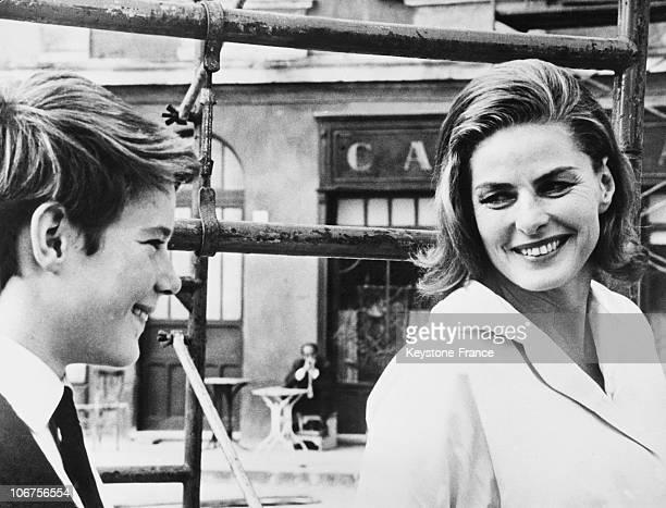 Rome Cinecitta Studio Ingrid Bergman Taking A Break While Filming The Visit 1963