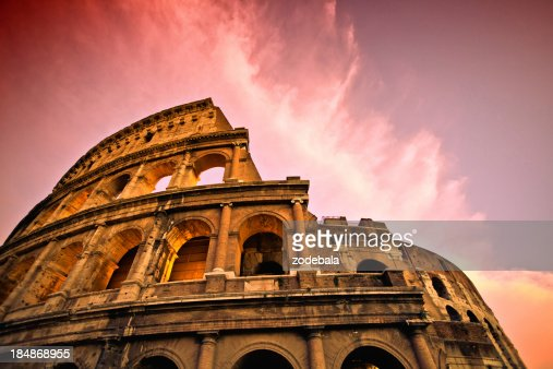 Rome Coliseum at Sunset