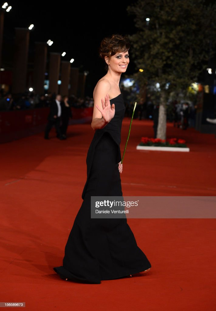 Rome Film Festival hostess Claudia Pandolfi attends the Closing Ceremony Red Carpet during the 7th Rome Film Festival at the Auditorium Parco Della Musica on November 17, 2012 in Rome, Italy.