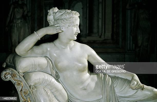 Rome Galleria Borghese Paolina Borghese as Venus Victrix 18051808 by Antonio Canova white marble