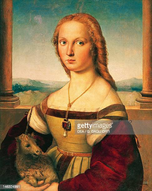 Rome Galleria Borghese Portrait of a Young Woman with Unicorn by Raphael Sanzio