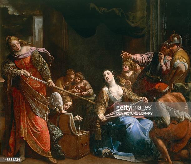 Rome Galleria Nazionale D'Arte Antica Di Palazzo Barberini Achilles among the Daughters of Lycomedes by Alessandro Tiarini oil on canvas 2305 x2735 cm