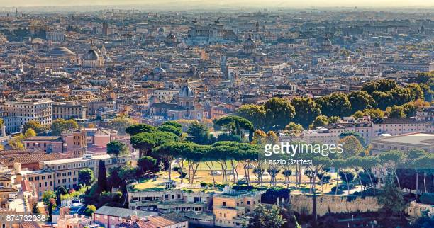 Rome is seen at the dome of St Peter's Basilica on November 1 2017 in Vatican City Vatican