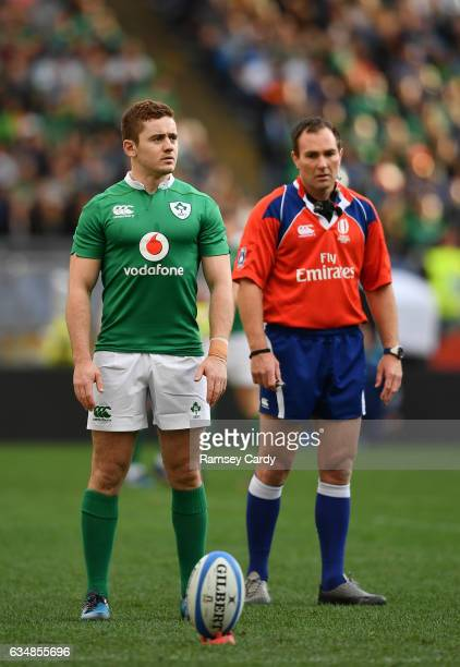 Rome Italy 11 February 2017 Paddy Jackson of Ireland during the RBS Six Nations Rugby Championship match between Italy and Ireland at the Stadio...