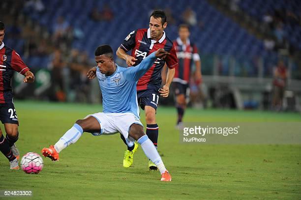 Rome Italy 22th August 2015 Italian Serie A football match between SS Lazio and FC Bologna Keita in action Lazio beats Bologna 21 Biglia 17' Kishna...