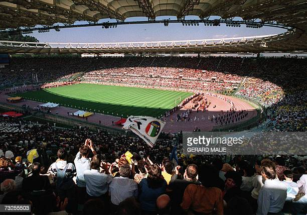 A photo taken 31 May 1990 of the Olympic Stadium in Rome Only six of Italy's 31 football venues including Rome's Olympic Stadium are safe against...