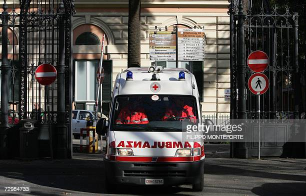An ambulance exits Rome's Policlinico Umberto I hospital 12 Jannuary 2007 The director of the hospital in the spotlight after an undercover...