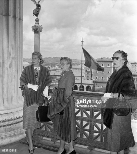 Rome Italy April 1956 Margaret Kelly and Margaret Katherine Majer in Rome for holiday
