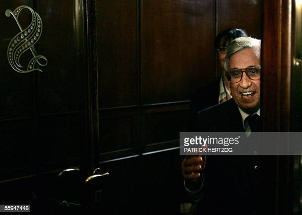 Italian central bank chief Antonio Fazio arrives for an audition on the Financial institution at the Senate in Rome 18 October 2005 Fazio is under...