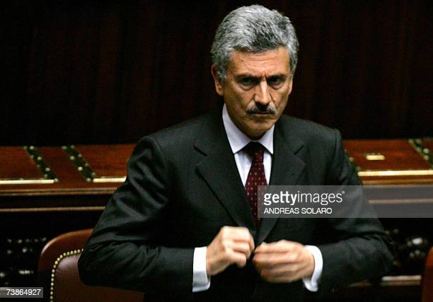 Italian Foreign Minister Massimo D'Alema prepares to face a grilling in parliament over the controversial circumstances involving the freeing of...