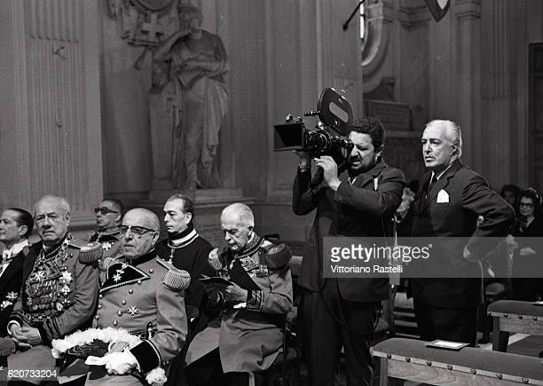 Rome Italy Italian movie director Vittorio de Sica directs the shooting of a documentary on the Sovereign Order of Malta in Rome June 22 1970
