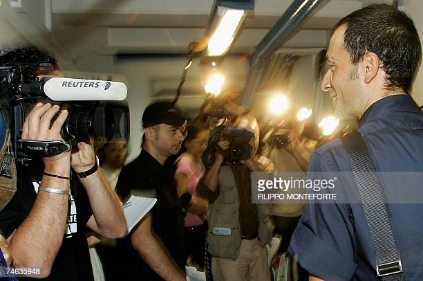 Italy's cyclist Ivan Basso arrives to the Italian cycling federation in Rome 15 June 2007 for a hearing to determine the length of his ban for doping...