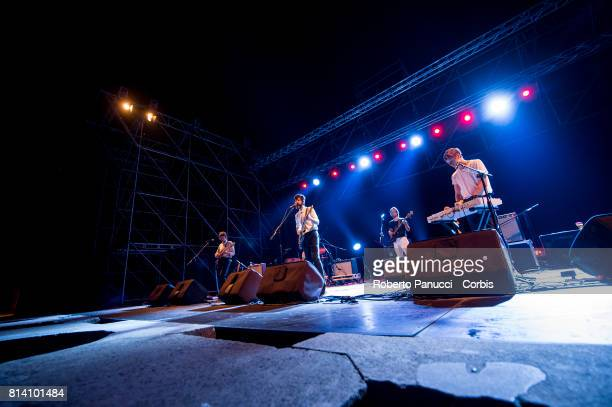 american singer Devendra Banhart performs at Teatro Romano di Ostia Antica on July 11 2017 in Rome Italy