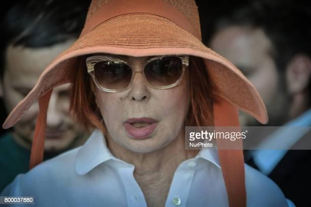 Rome Italy June 22 Marina Ripa di Meana attends during The Carla Fendi Funeral At Chiesa degli Artisti on June 222017 in Rome
