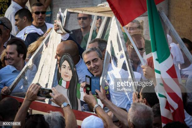 Rome Italy June 22 Maurizio Gasparri during Several hundred people gathered in Capitol Hill Square to protest against Mayor of Rome Virginia Raggi...