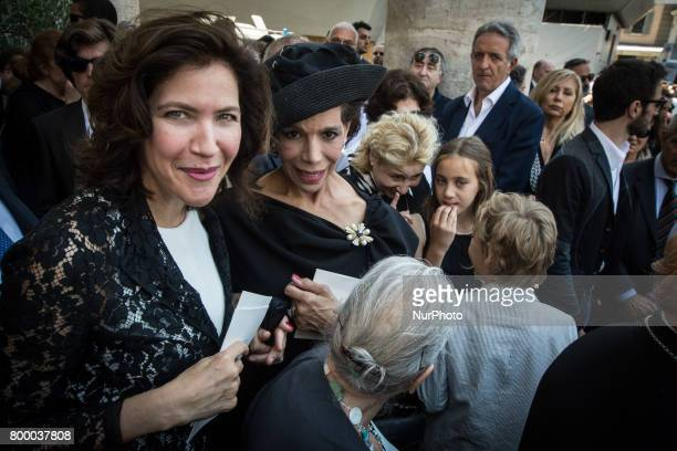 Rome Italy June 22 Sonia Raule and Marisela Federici attends during The Carla Fendi Funeral At Chiesa degli Artisti on June 222017 in Rome
