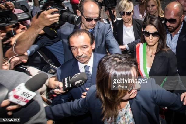 Rome Italy June 22 The mayor of Rome Virginia Raggi attends during The Carla Fendi Funeral At Chiesa degli Artisti on June 222017 in Rome
