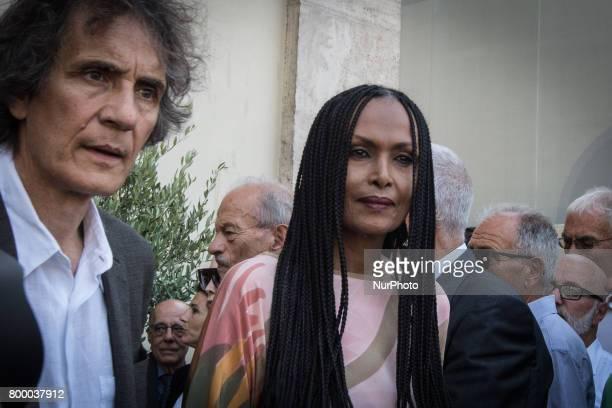 Rome Italy June 22 Zeudi Araya attends during The Carla Fendi Funeral At Chiesa degli Artisti on June 222017 in Rome