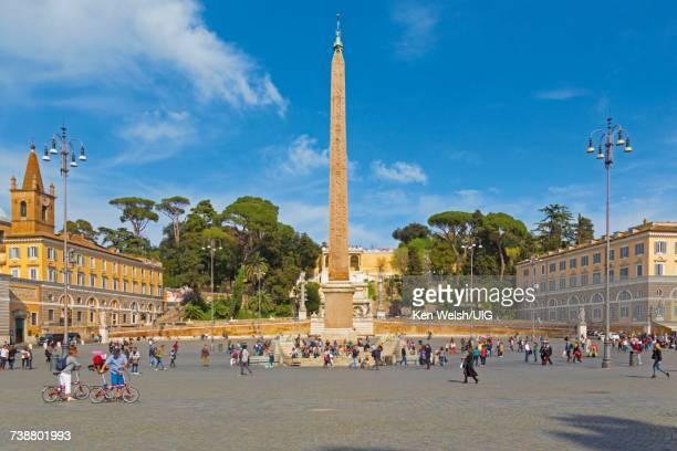 'Rome, Italy. Piazza del Popolo.'