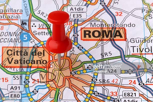 Roma su una mappa.
