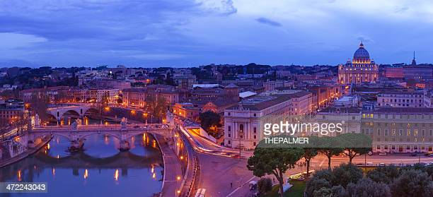 Rome panorama at twilight