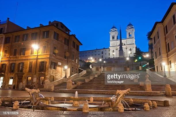 Rome Piazza di Spagna Spanish Steps Fontana della Barcaccia Italy