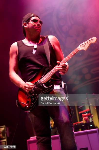 Rome Ramirez of Sublime performs on stage at Charter One Pavilion on July 13 2010 in Chicago Illinois