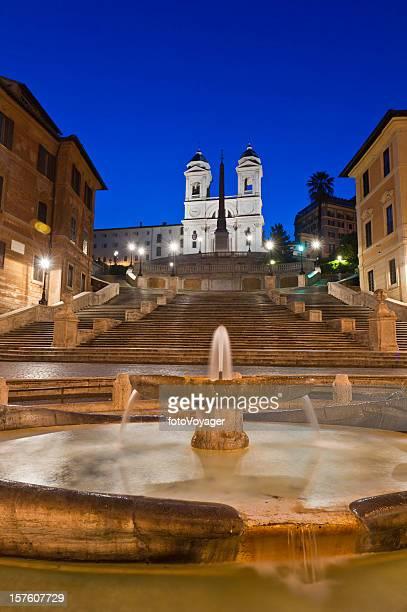 Rome Spanish Steps Fontana della Barcaccia Trinità dei Monti Italy