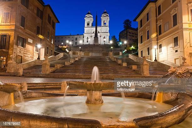 Rome Spanish Steps Piazza di Spagna Fontana della Barcaccia Italy