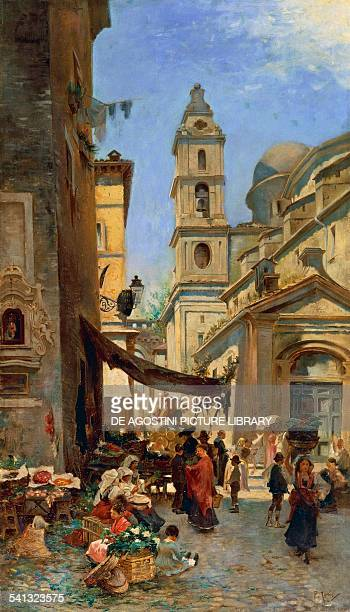 Rome Via del Campanile in Borgo by Joris Pio oil on canvas 106x61 cm Italy 19th20th century