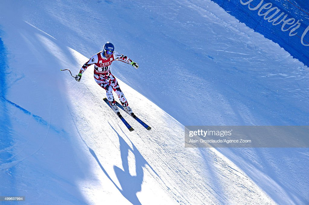Romed Baumann of Austria competes during the Audi FIS Alpine Ski World Cup MenÕs Downhill Training on December 02 2015 in Beaver Creek Colorado